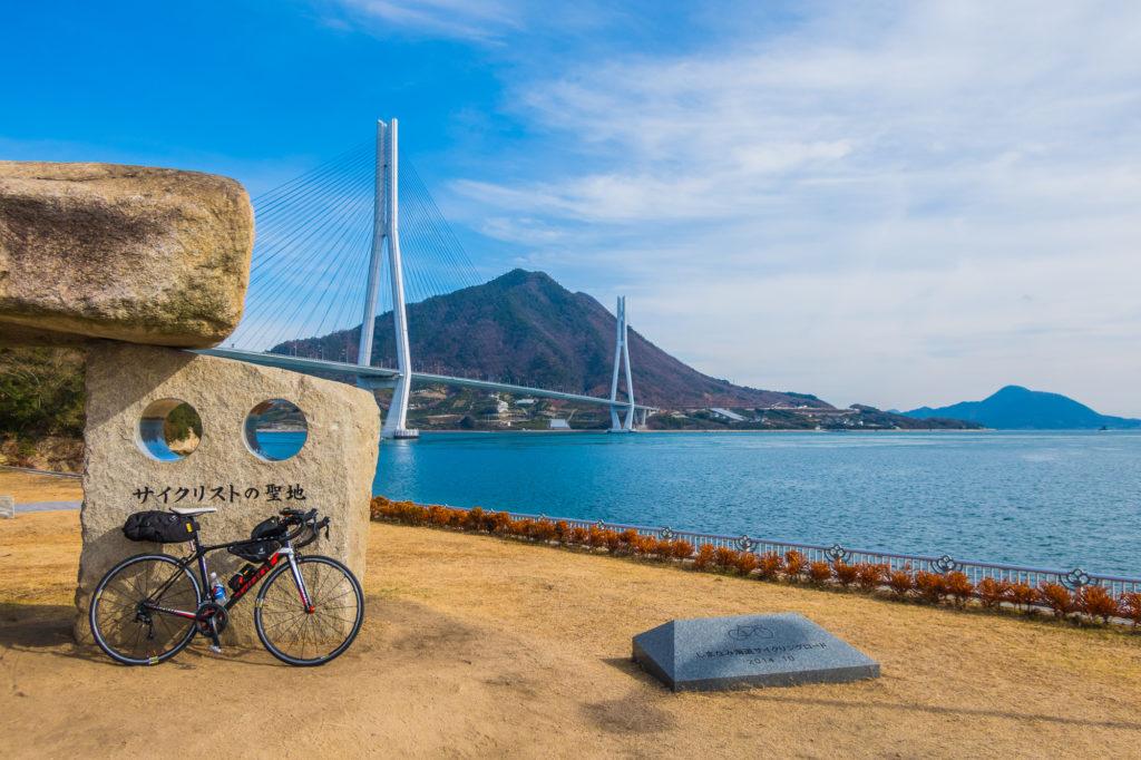 しまなみ海道サイクリストの聖地碑