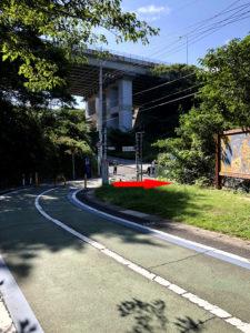 因島大橋自転車歩行者道出口