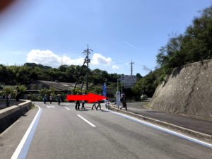 大三島橋自転車歩行者道入り口