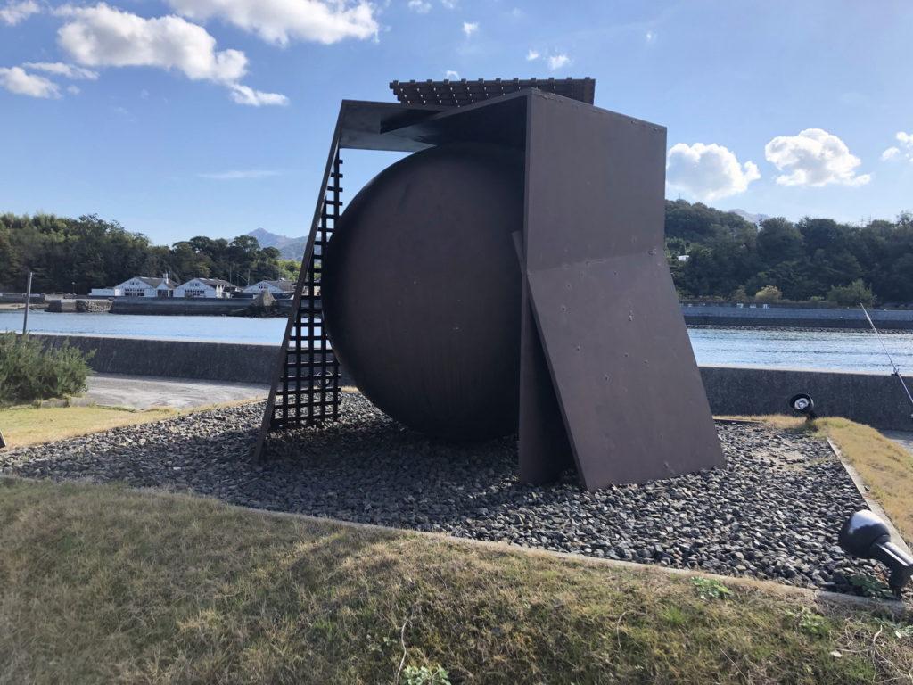 島ごと美術館『球を包む幕舎』