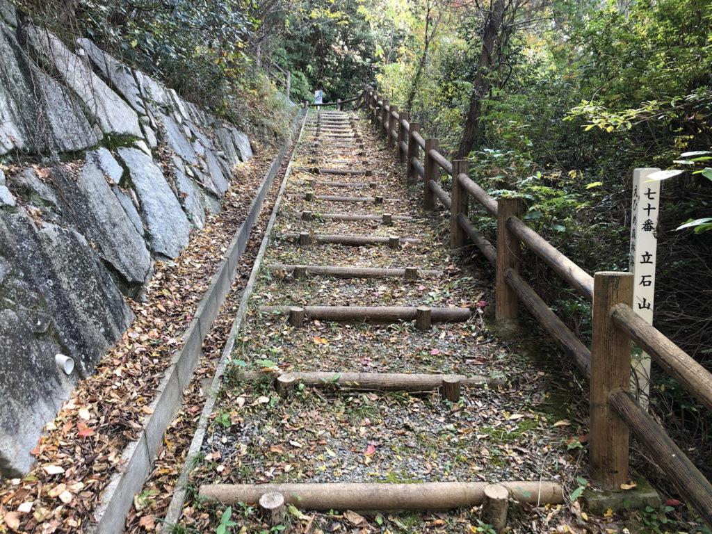 立石山展望台への階段