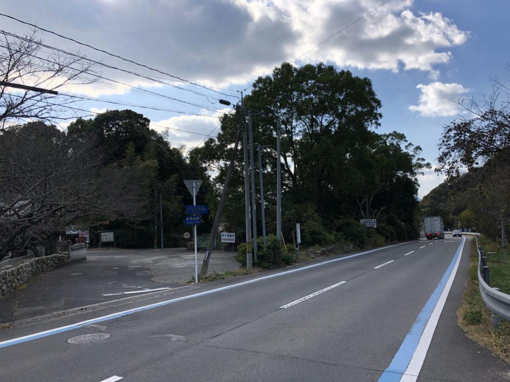 鷲ヶ頭山ヒルクライムスタート地点